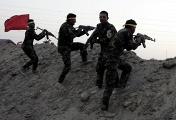 """Представители шиитских вооруженных формирований """"Аль-Хашд аш-Шааби"""", присоединившиеся к подразделениям ВС Ирака, возле города Рамади"""