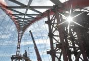 Бугринский мост через Обь