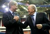 Глава РФС Николай Толстых и президент ФИФА Йозеф Блаттер