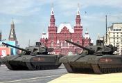 """Танки Т-14 """"Армата"""" во время военного парада на Красной площади, 9 мая 2015 года"""