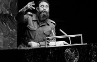 Cuban leader Fidel Castro holds the Guinness Book of Records title for the longest speech delivered at the United Nations: 4 hours and 29 minutes, on September 29, 1960
