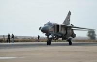 At a Syrian air base