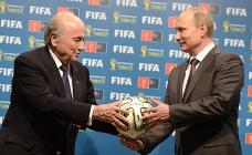 FIFA president Sepp Blatter and Russian President Vladimir Putin, July 2014
