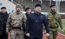 Ramzan Kadyrov (center), December 2014
