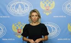 Foreign Ministry's spokesperson Maria Zakahrova