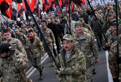 Right Sector activists marching in Kiev (archive)
