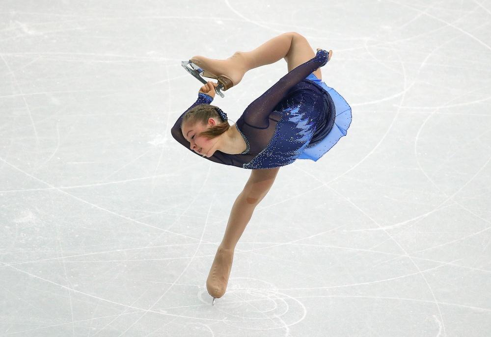 Russian figure-skater Yulia Lipnitskaya won teams short programme at Sochi Olympics