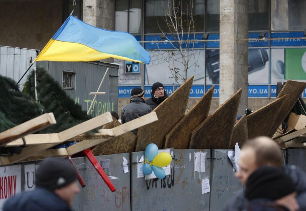 Акции сторонников евроинтеграции Украины продолжаются в Киеве