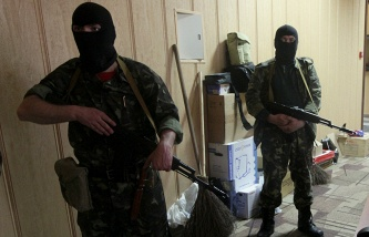 Militiamen in Luhansk (archive)