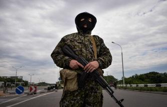 A militia fighter in eastern Ukraine