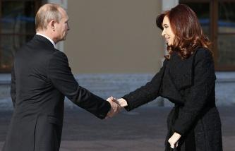 Президент РФ Владимир Путин и президент Аргентины Кристина Фернандес де Киршнер
