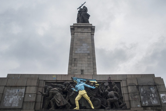 A monument to Soviet liberator soldiers in Bulgaria vandalized in February 2014