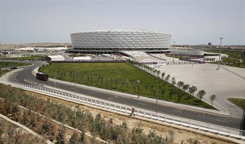 Олимпийский стадион, где пройдут церемонии открытия и закрытия первых Европейских игр