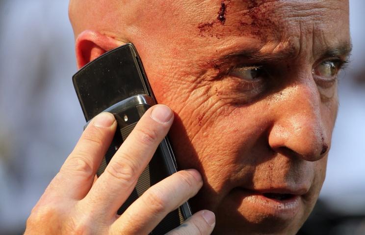 ВЮАР поезд насмерть сбил телеоператора вовремя съемок репортажа для BBC