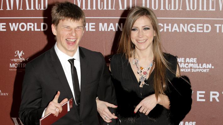 Аршавин с супругой