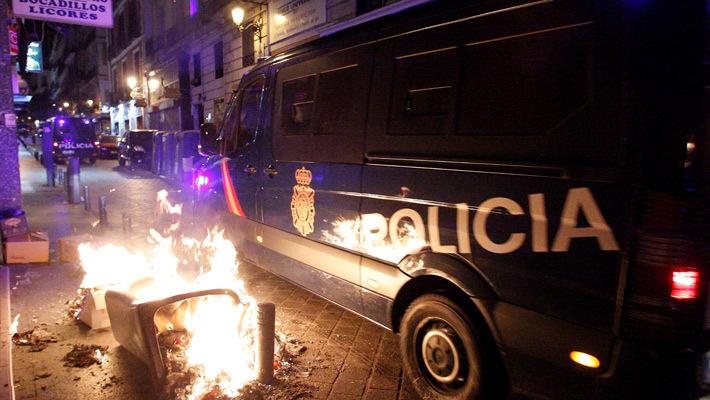 Разгон демонстрации в Мадриде