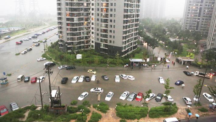 Наводнение в Китае_улица