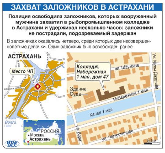 Захват заложников в Астрахани