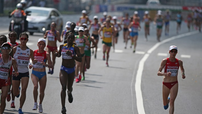 Во время марафона по столичной набережной