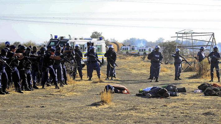 Акция протеста шахтеров в ЮАР