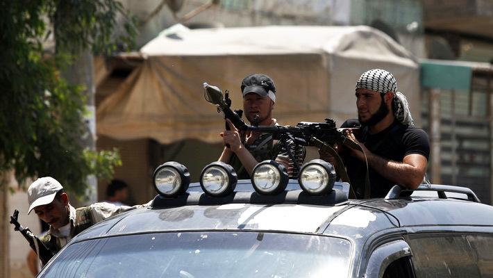 Боевики в Алеппо_Сирия