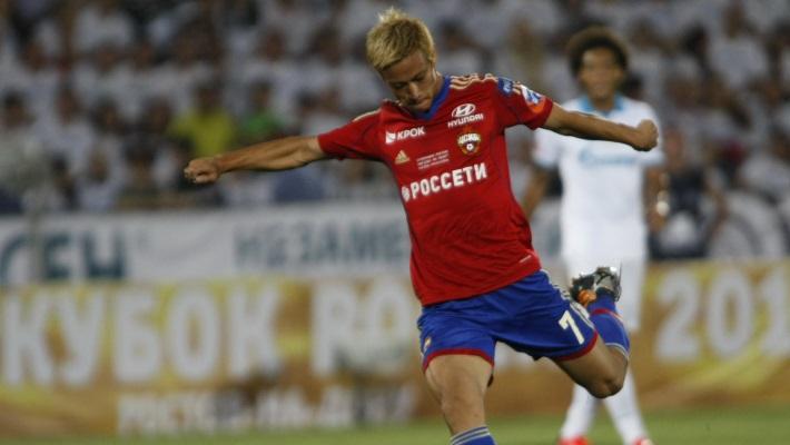 Игрок ЦСКА Кейсуке Хонда, сделавший в матче дубль