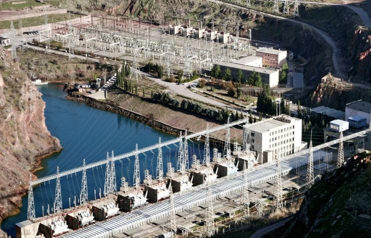 A hydro power plant in Tajikistan (archive)