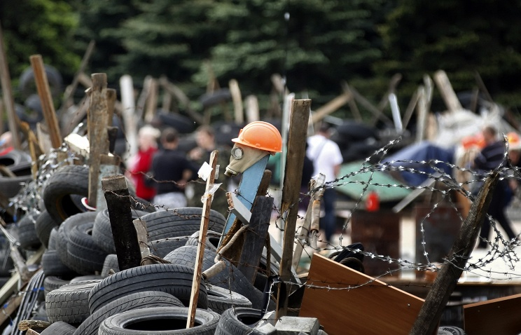 Barricades in Donetsk