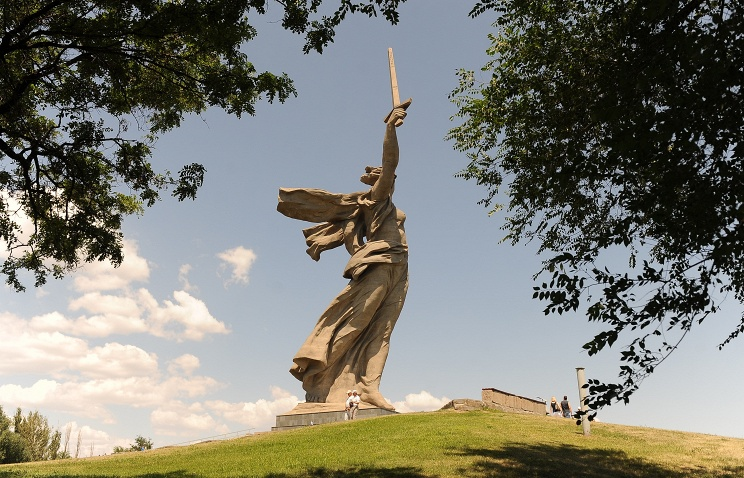The Motherland Calls Monument in Volgograd
