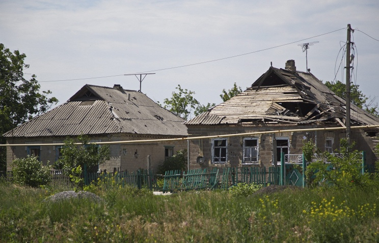 Aftermath of shelling in Donetsk region