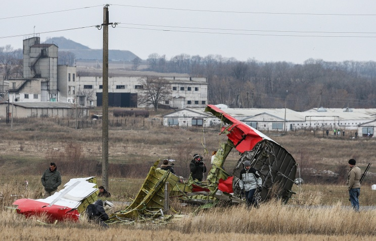 На месте падения малайзийского Boeing 777 в Донецкой области