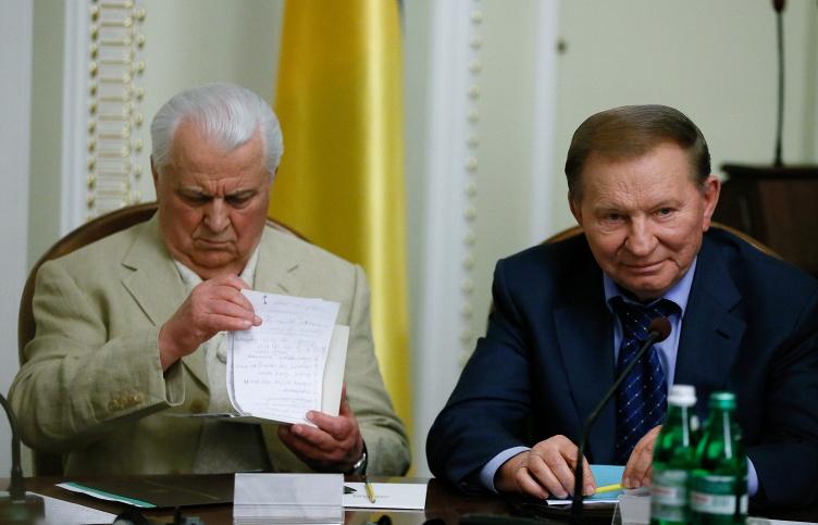 Экс-президенты Украины Леонид Кравчук и Леонид Кучма